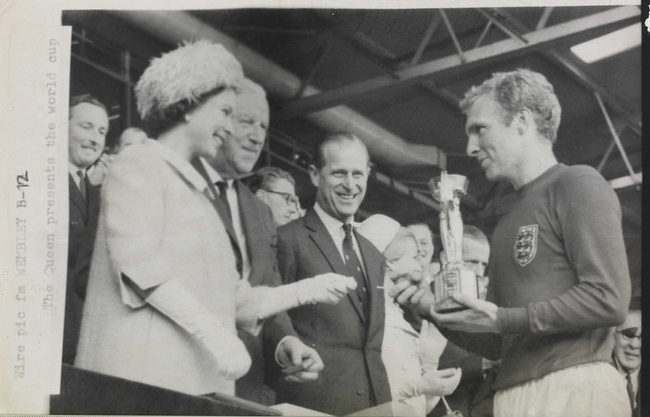 Bobby Moore with World Cup 1966