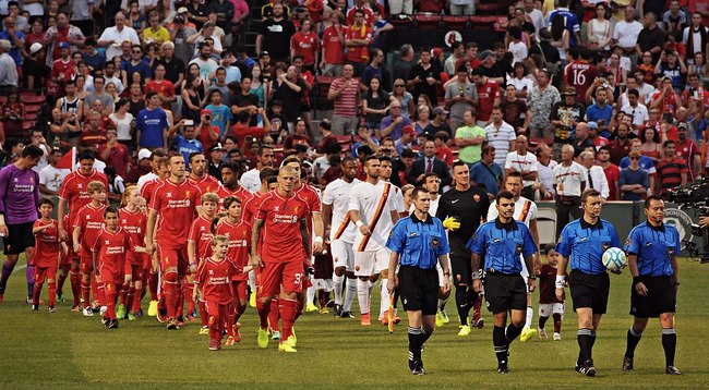 Liverpool Enter Pitch