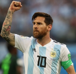 Messi Fist in Air