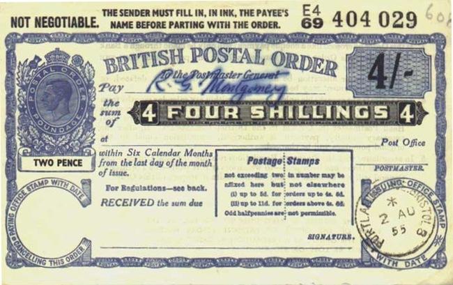 Old Postal Order