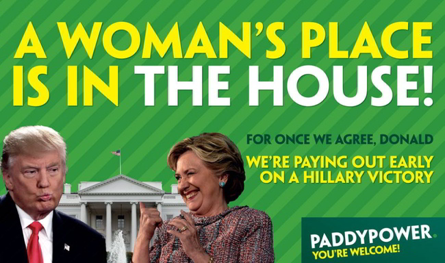 Paddy Power Early Payout Hillary Clinton