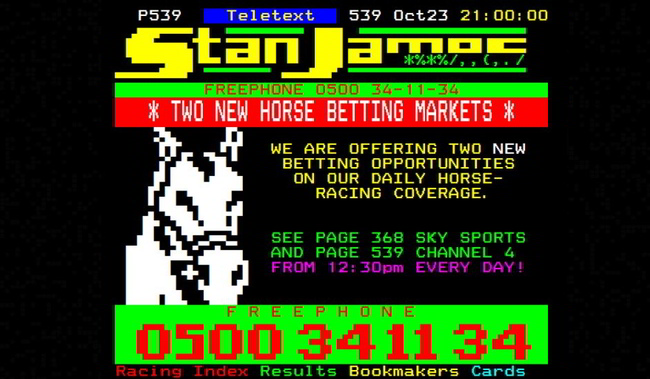 Stan James Teletext