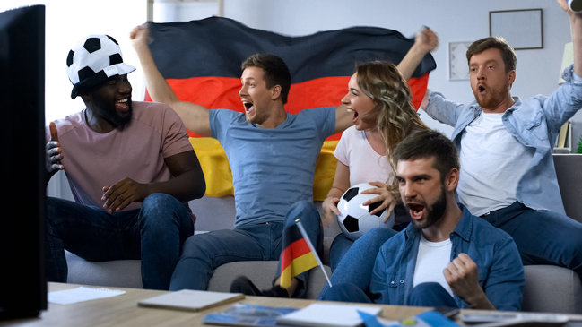 German Football Fans Celebrating