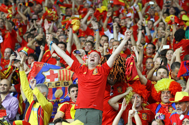 Spanish Football Fans Celebrating