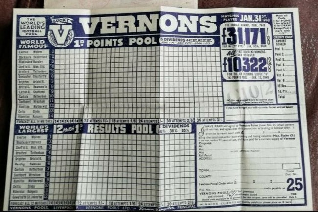 Vernons Pools Coupon