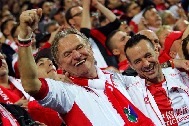 Czech Football Fans Celebrating