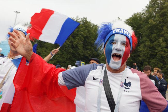 France Football Fan Happy