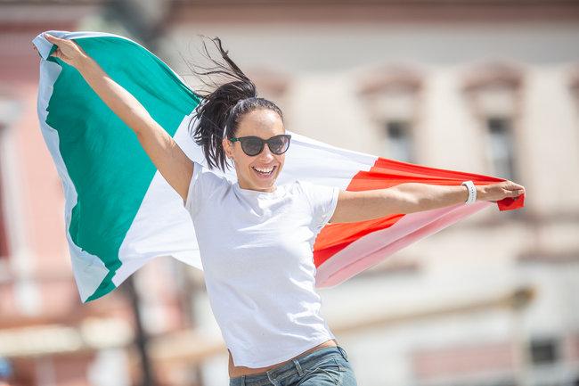Italian Football Fan Celebrating