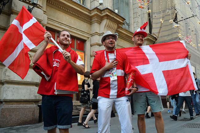 Danish Football Fans Happy