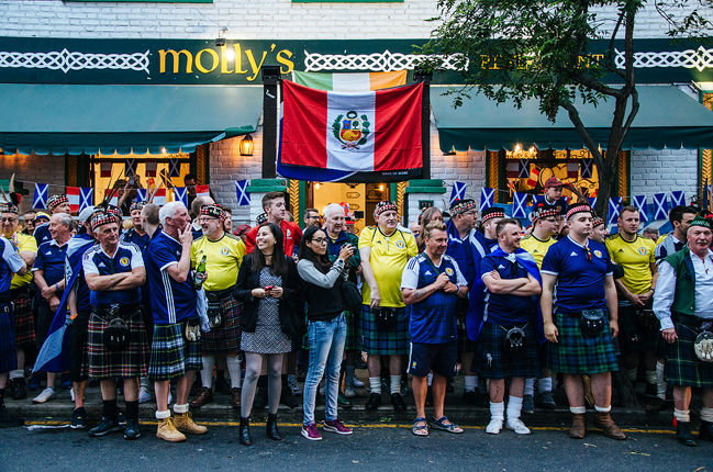 Group of Scottish Football Fans