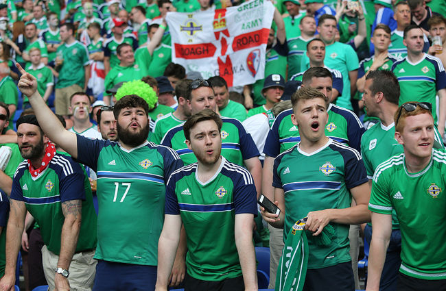 Northern Ireland Football Fans Sad