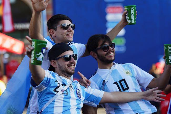 Happy Argentina Football Fans