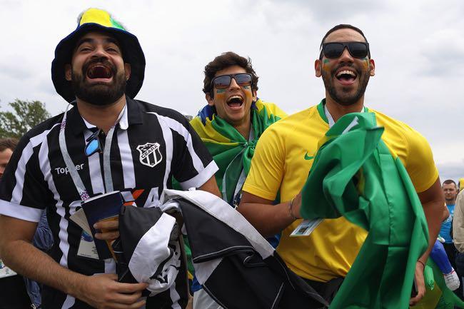 Happy Brazilian Football Fans