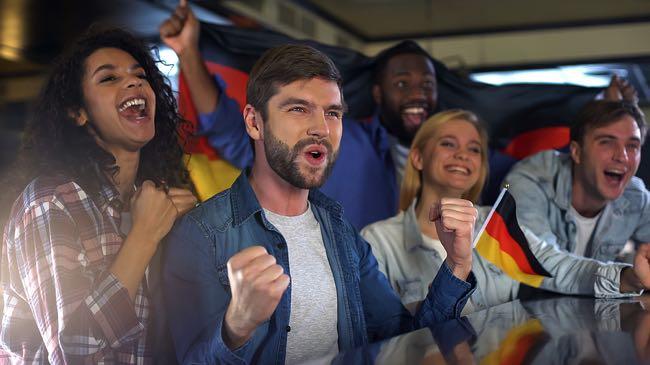 Happy Germany football fan