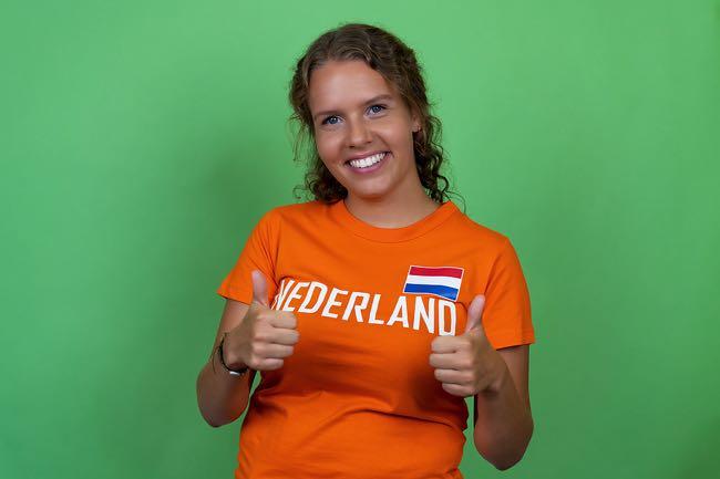 Happy Netherlands football fan