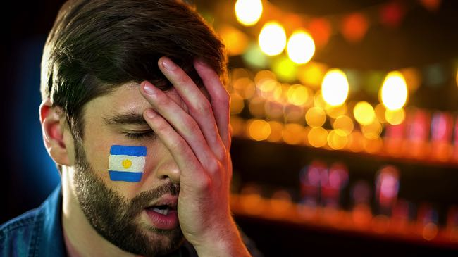 Sad Argentina Football Fan