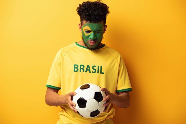 Sad Brazilian Football Fan