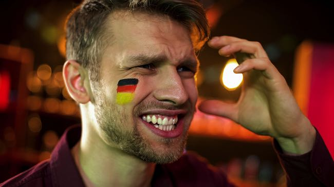 Sad Germany football fan