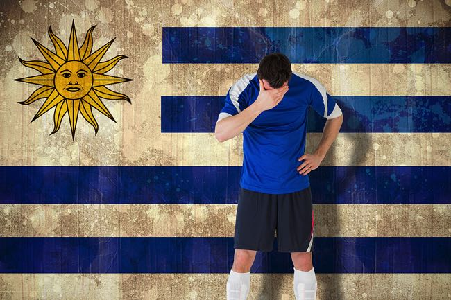 Disappointed Uruguay fan
