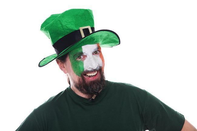 Happy Irish football fan