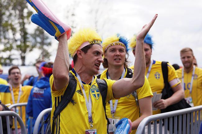 Sad Swedish football fans