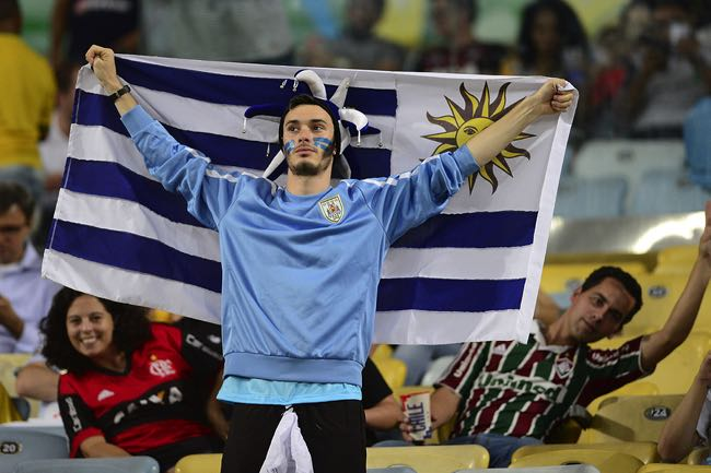 Uruguay football fan
