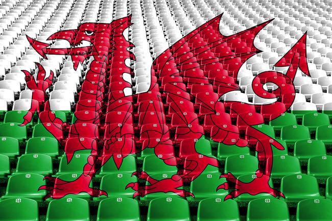 Wales flag football stadium