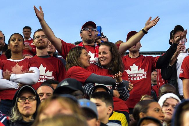 Disappointed Canadian football fans