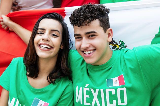 Happy Mexico football fans