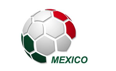 Mexico football flag