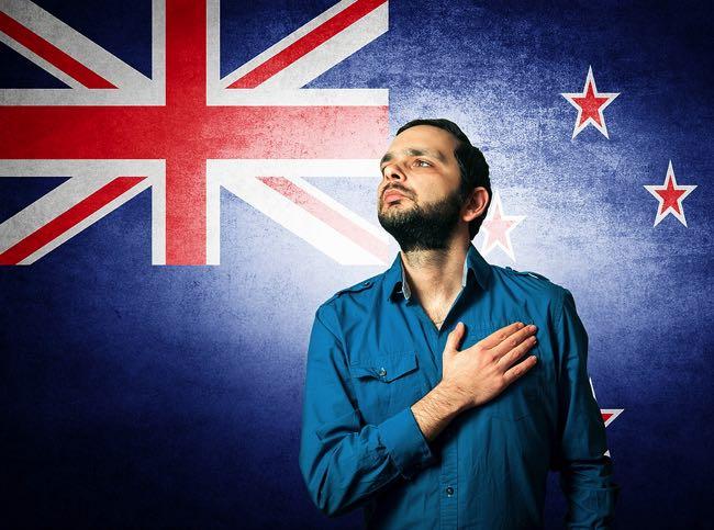New Zealand football fan