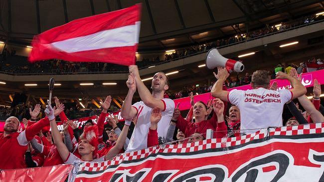 Austrian football fans