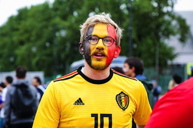Belgium football fans surprised