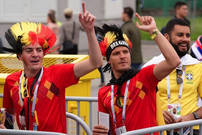 Belgium football fans