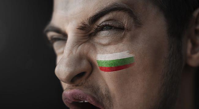 Bulgarian football fan shouting