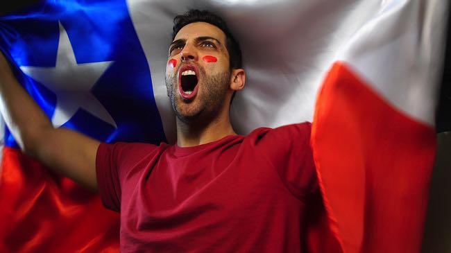 Chilean football fan