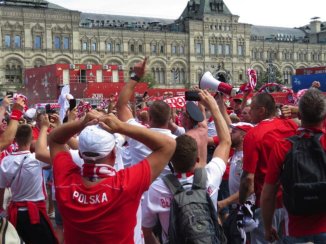 Disappointed Polish football fans