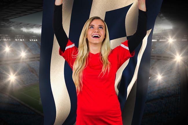 Happy Greece football fan