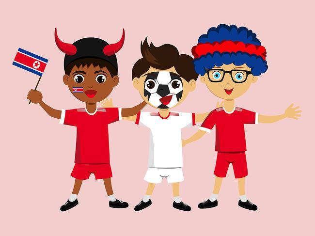 North Korean football fan cartoon