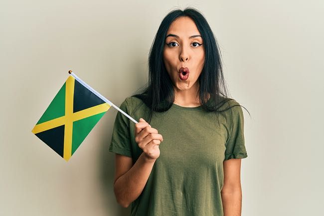 Surprised Jamaica football fan